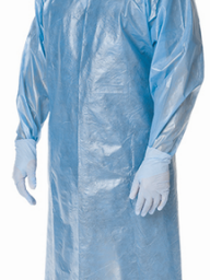 Poly-Coated Isolation Gowns