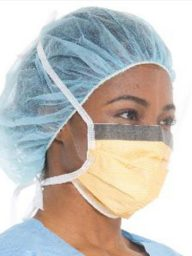 FluidShield Level 3 Fog-Free Surgical Mask Box/25